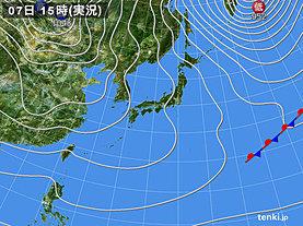 実況天気図(2019年01月07日)