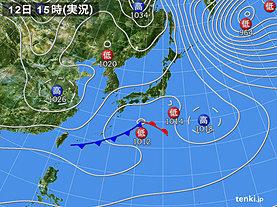実況天気図(2019年01月12日)