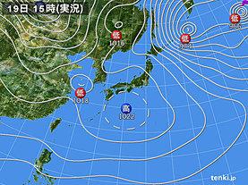 実況天気図(2019年01月19日)