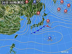 実況天気図(2019年01月20日)