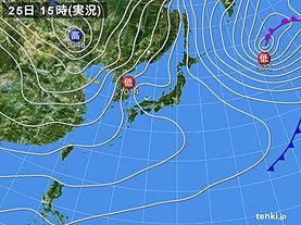 実況天気図(2019年01月25日)