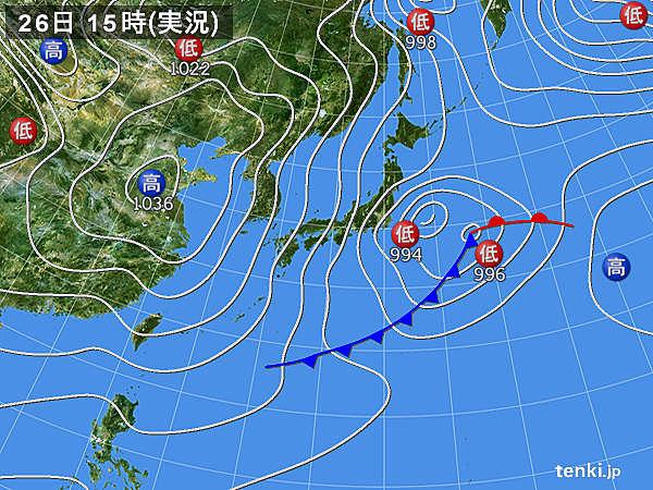 実況天気図(2019年01月26日)