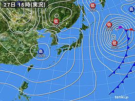 実況天気図(2019年01月27日)