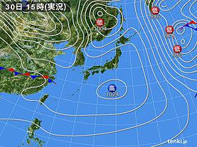 実況天気図(2019年01月30日)