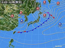 実況天気図(2019年02月04日)
