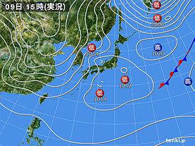 実況天気図(2019年02月09日)