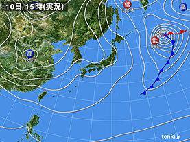 実況天気図(2019年02月10日)