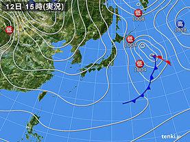 実況天気図(2019年02月12日)