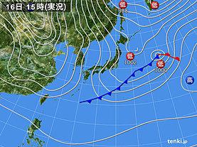 実況天気図(2019年02月16日)