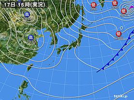 実況天気図(2019年02月17日)