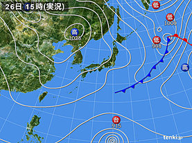 実況天気図(2019年02月26日)