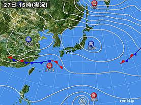 実況天気図(2019年02月27日)
