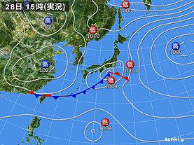実況天気図(2019年02月28日)