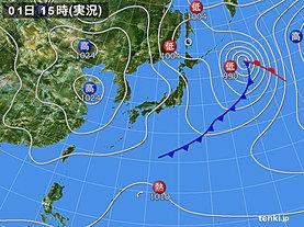実況天気図(2019年03月01日)