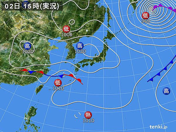 実況天気図(2019年03月02日)