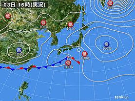 実況天気図(2019年03月03日)
