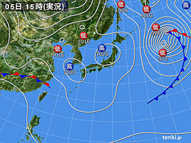 実況天気図(2019年03月05日)