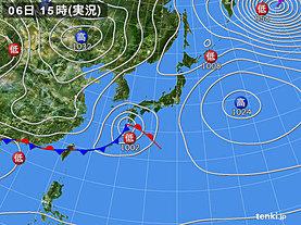 実況天気図(2019年03月06日)
