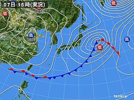 実況天気図(2019年03月07日)