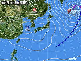 実況天気図(2019年03月08日)