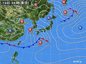 実況天気図(2019年03月10日)