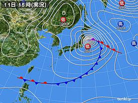 実況天気図(2019年03月11日)