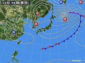 実況天気図(2019年03月12日)