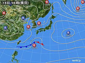 実況天気図(2019年03月15日)