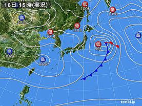 実況天気図(2019年03月16日)