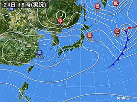実況天気図(2019年03月24日)