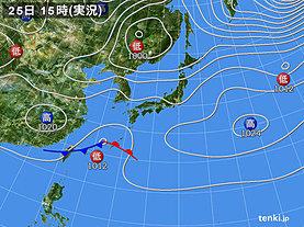 実況天気図(2019年03月25日)