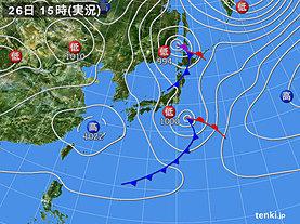 実況天気図(2019年03月26日)
