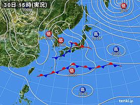 実況天気図(2019年03月30日)