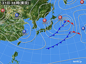 実況天気図(2019年03月31日)