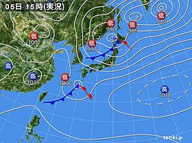 実況天気図(2019年04月05日)