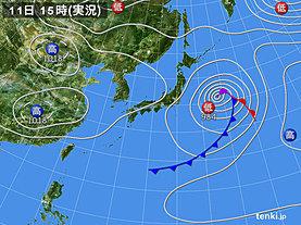 実況天気図(2019年04月11日)