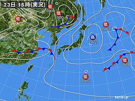 実況天気図(2019年04月23日)