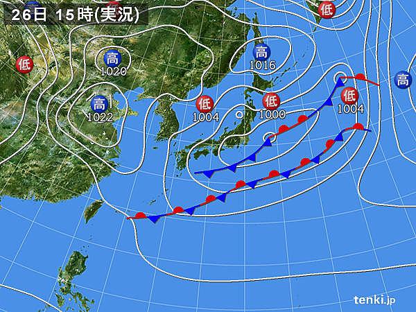 実況天気図(2019年04月26日)