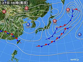 実況天気図(2019年04月27日)