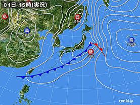 実況天気図(2019年05月01日)