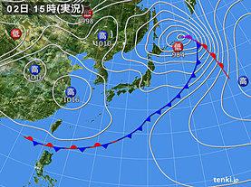 実況天気図(2019年05月02日)