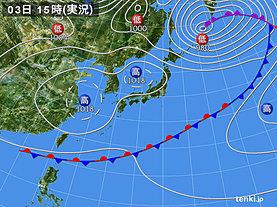 実況天気図(2019年05月03日)