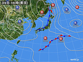 実況天気図(2019年05月06日)