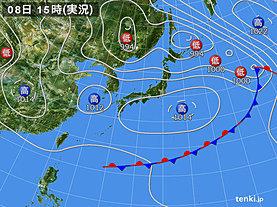 実況天気図(2019年05月08日)