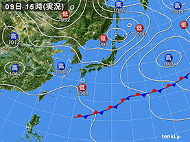 実況天気図(2019年05月09日)