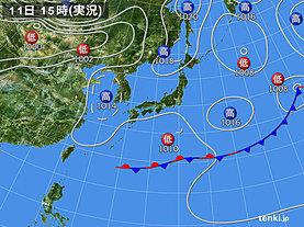 実況天気図(2019年05月11日)