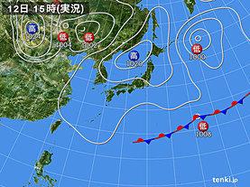 実況天気図(2019年05月12日)