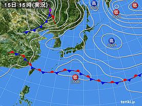 実況天気図(2019年05月15日)