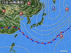 実況天気図(2019年05月17日)