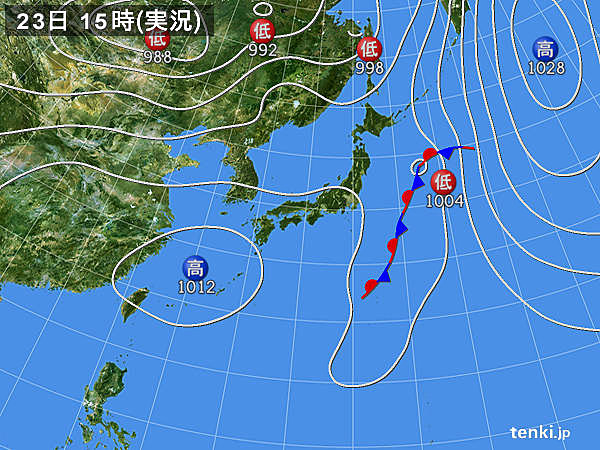 実況天気図(2019年05月23日)